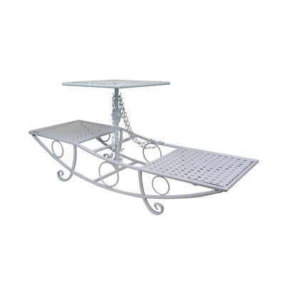 CAKE STAND THREE TIER BOAT - White | Display Stand
