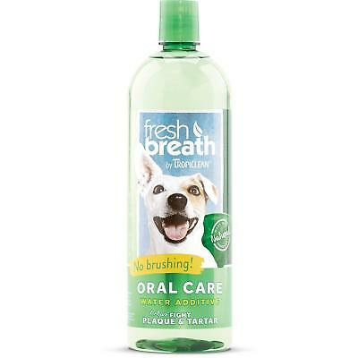 Tropiclean Fresh Breath Plaque Remover Pet Water Additive 33.8 oz - Pack of 1