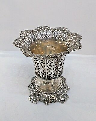 Antique Turkish/ottoman Pierced Silver Spoon Holder, Tughra And Sah, 19Th C.