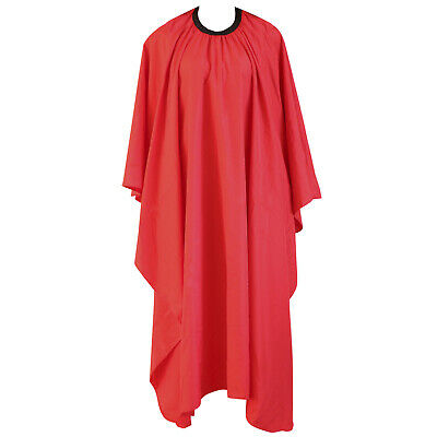 Red Hairdressing Gown Salon Barbers Hair Cutting Cape - By TRIXES