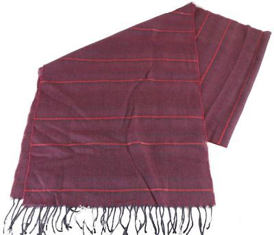 1592d3e4fd561 Bassin and Brown Mens Charles Horizontal Striped Wool Scarf - Wine