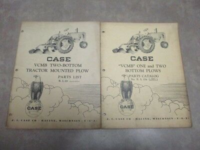 """Set of 2 Vintage Case """"VCMB"""" One & Two Bottom Plows Parts Catalogs"""