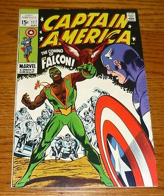 Captain America # 117 FIRST APPEARANCE of The Falcon, VFN, Marvel Comics 1969
