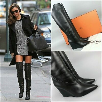 sports shoes d9147 6ab11 HERMES NEO BLACK Ankle Boots Size 38 Uk 5 Kelly Buckle - EUR ...