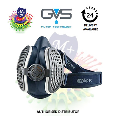 GVS Filter Technology SPR501 Elipse P3 Dust Half Mask Respirator, Filters Ready