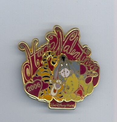 WDW Disney Valentine's Day Winnie the Pooh Eeyore Tigger Together LE Pin