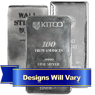 100 Troy oz Silver Bar .999 Fine Generic Secondary Market