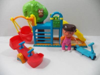 ~Dora The Explorer~ Talking Dollhouse House Replacement Playground Swing Slide