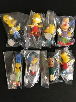 Simpsons Mini Bobble Head Figures Rare New Never Opened 8 Figures