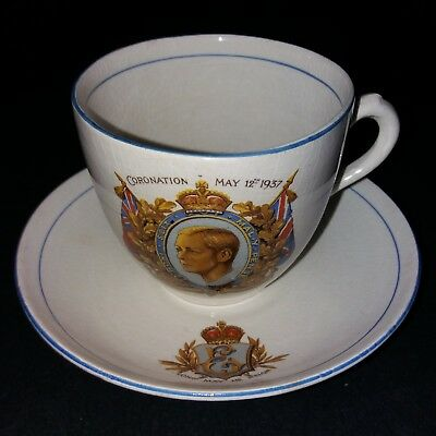 King Edward VIII Coronation Teacup Unmarked Long May He Reign