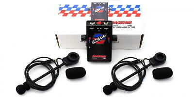 Trac-Com Intercom Kit for HPDE Instructors with Two Boom Mic Headsets