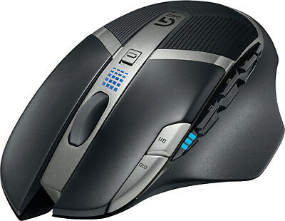 Logitech - G602 Wireless Optical 11-Button Scrolling Gaming Mouse - Black