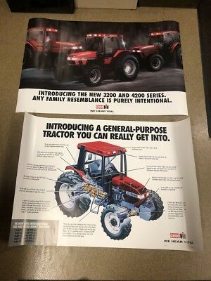 """Set of 2 Case IH 7240, 4230, 5250 Tractor Posters Advertising 36"""" x 24"""""""