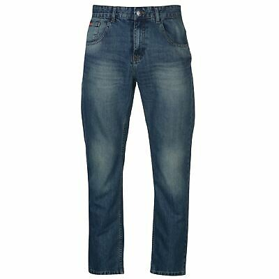 Lee Cooper Bootcut Jeans Mens Gents Pants Trousers Bottoms Cotton Zip