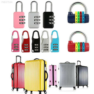 47E2 Password Lock 3 Digit Metal Resettable Coded Padlock Dial Travel Durable