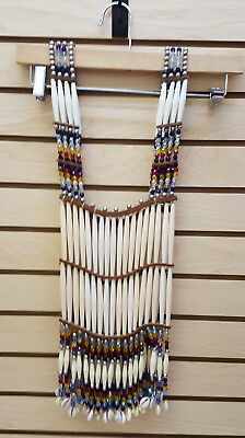 Nice Glass Beaded Hairpipe Double Sided Native American Indian Breastplate