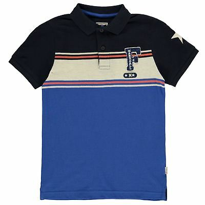 Franklin and Marshall Varsity Polo Shirt Childrens Classic Fit Tee Top Short