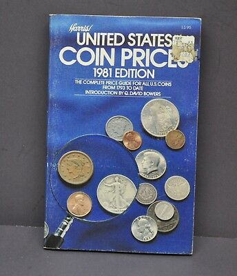 Vintage 1981 Harris United States Coin Prices Price Guide Book Coin Catalog