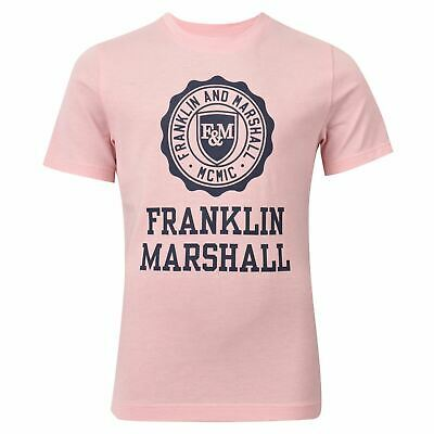 Franklin and Marshall Logo T Shirt Childrens Crew Neck Tee Top Short Sleeve