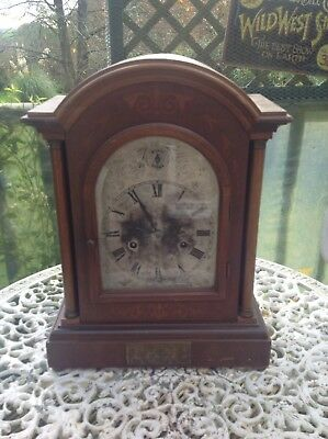 A fine quality Edwardian 8 day mantle clock With Inlay