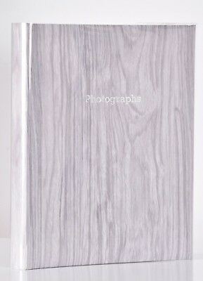 Large Silver Birch Self Adhesive Photo Album Hold Various Sized Photos 50 Pages