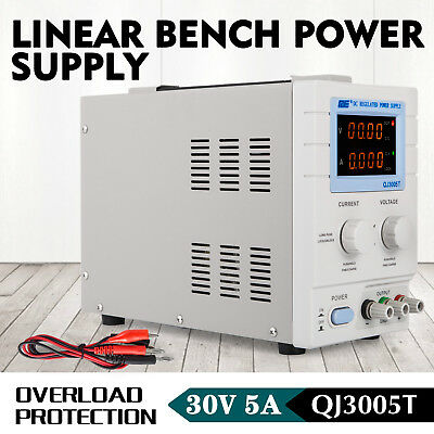 Variable Linear DC Bench Power Supply 0-5A 4 Digits LED Screen GOOD PRESTIGE