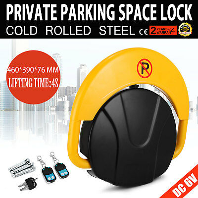 Private Parking Space Lock Remote Control Waterproof Yellow 4*A Battery