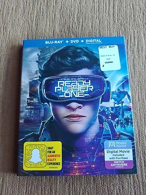 Ready Player One (Blu Ray + DVD) 2018, w/ SLIP COVER