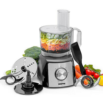 Geepas 1200W Food Processor Blender Chopper Grater Dough Mixer 2 Speed & Pulse