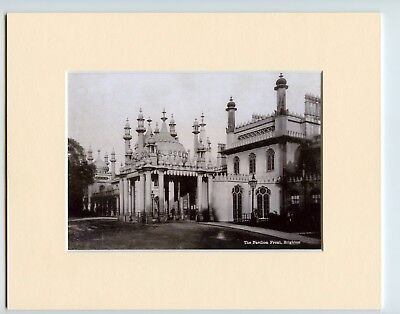 Mounted Print Brighton Pavilion C1875 Ready for Framing  Old Photo