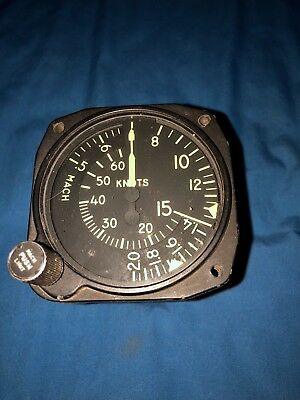 Vintage Aircraft Instrument Mach Air Speed Indicator Bendix Aviation
