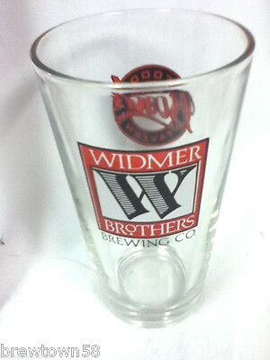 Widmer beer glass import Widmer Brothers Brewing logo bar glass JQ7 vintage old