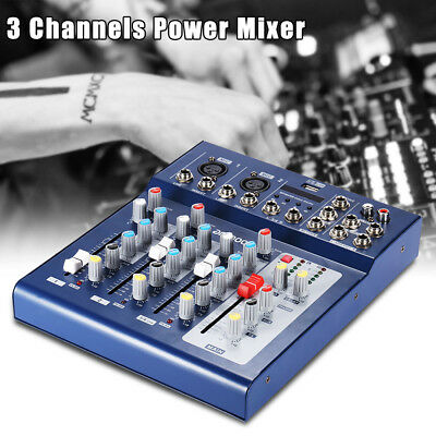 3 Channel Digtal Mic Line Audio Mixing Mixer Console with 48V Phantom Power C6C9