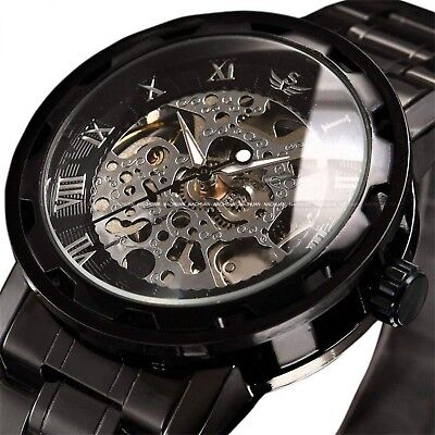 Watch Mens Watches Classic Luxury Skeleton Dress Stainless Steel Mechanical