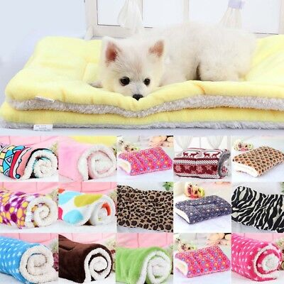 Warm Soft Pet Mat Small Large Cat Dog Puppy Fleece Blanket Bed Cushion Pad S-XL
