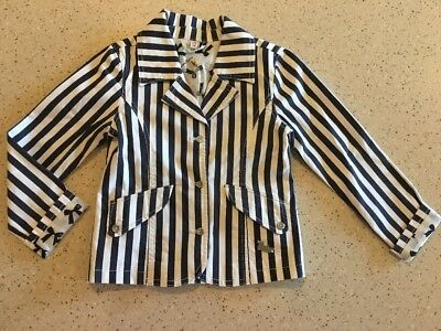 Barbara Farber Girl's Stripe Jacket Size 116 (4-6) - Perfect condtion!'