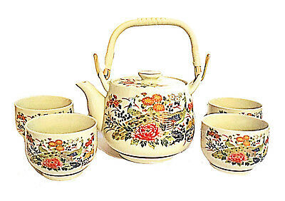 Vintage 6 Piece Satsuma Tea Set and 4 Cups Made in Japan NIB