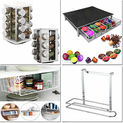 Kitchen Storage Shelf Basket Coffee Drawer Tissue Holder Spice Jar Organizer New