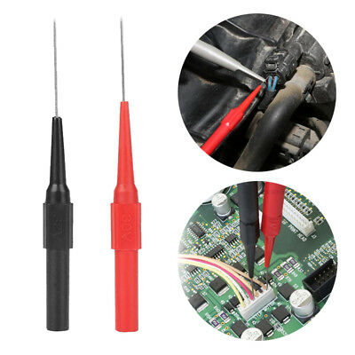 2Pcs Red&Black Insulation Piercing Needle Non-destructive Test Probes Tool Kit