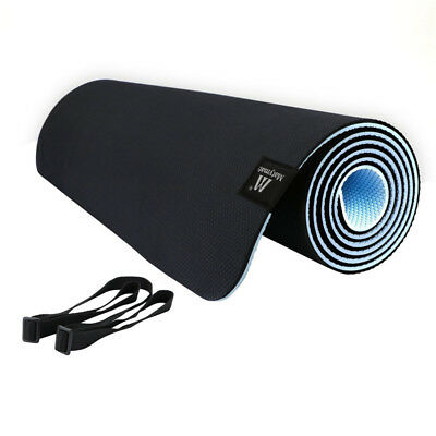 Exercise Yoga Mat Non Slip 100% TPE Pilates Workout Mat with Carrying Strap