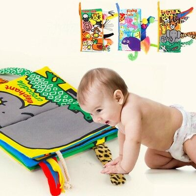 Toys  Baby Cloth Book  Vegetable Cognition Early Learning Animals Tails