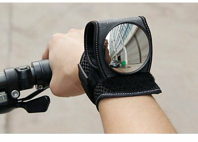 Wrist Rear View Mirror Cycling Bicycle Bike Guards Wristbands Back Eye UK