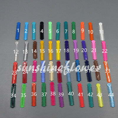 1040 Pcs/Pack Ligature ties Dental Orthodontics Elastic Rubber Bands 45 Colors