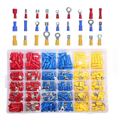 480 x Electrical Wire Terminal Set Auto Insulated Crimp Connector Spade