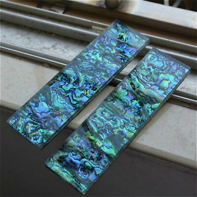 1x Abalone Shell Acrylic Slab Handle Turning Blank Knife Carved DIY Dubrable New