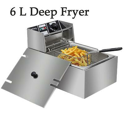 6L Deep Fryer Fat Fry Chip Commercial Restaurant Countertop Stainless Steel UK