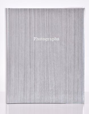 Large Wood Effect Self Adhesive Photo Album Hold Various Sized Photos 50 Pages