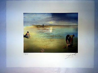 Art Mit Bleistift Easy To Use Salvador Dali Lithographie 50x65 Bfk Rives Stempel Trocken Sign