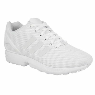 the best attitude e4d16 7c87f ADIDAS ORIGINALS ZX Flux Triple White Casual Running Shoes Sz 9 S79093