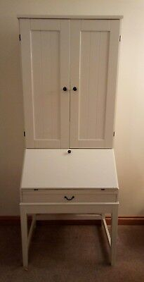 Ikea Hemnes Secretary Desk Bureau Pc Cupboard
